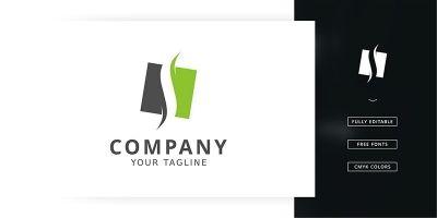 Slim Box Logo Template