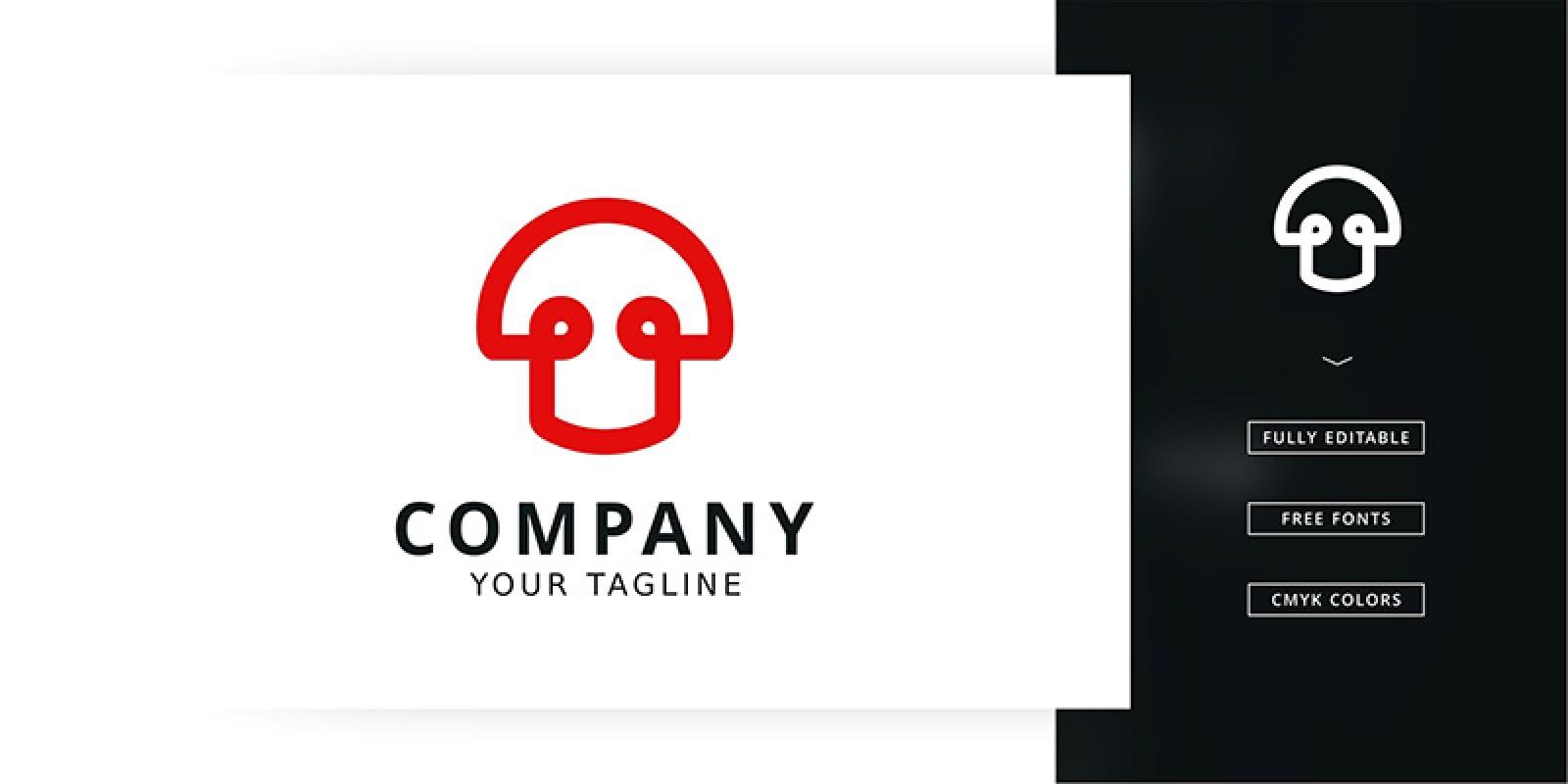 Tech Mushrooms Logo Template