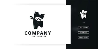 Ticket Ninja Logo Template