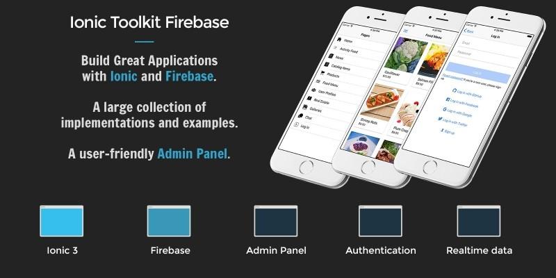 Ionic 3 Toolkit Firebase Pro Edition