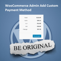 WooCommerce Admin Add Custom Payment Method