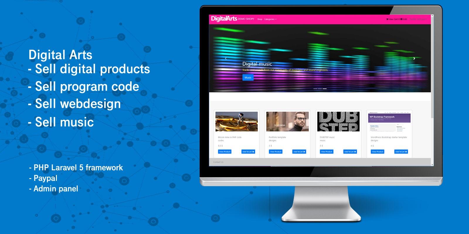 Laravel Digital Products - Multi-Vendor Market