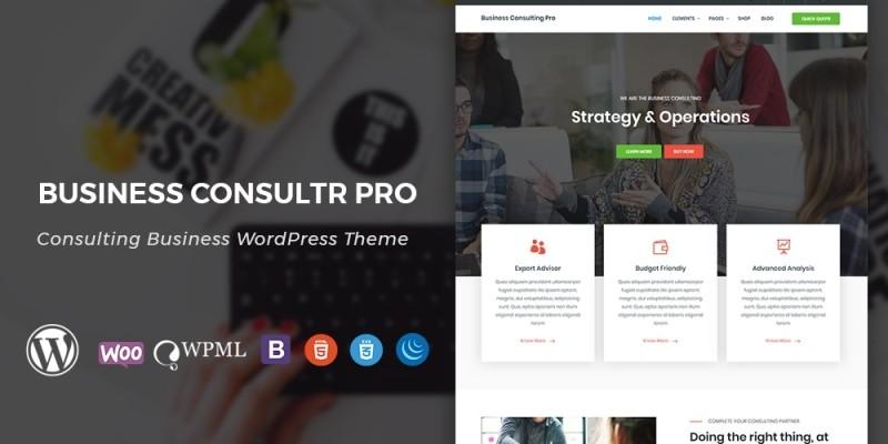 Business Consultr Pro WordPress Theme