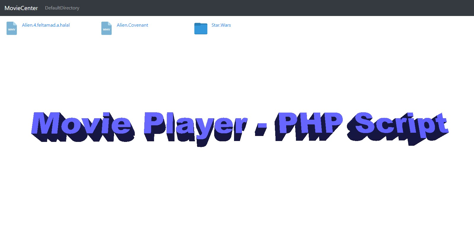 MovieCenter - PHP Script