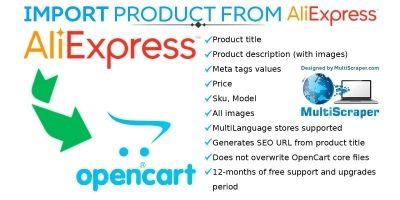 Get product From Aliexpress OpenCart Module