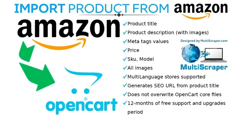 Get product from Amazon OpenCart Extension