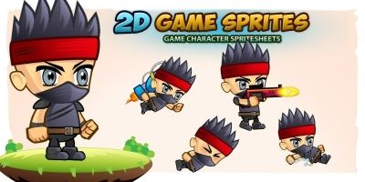Ninja 2D Game Sprites 2