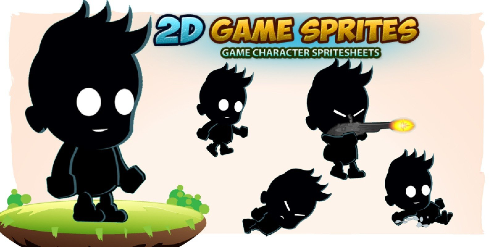 Shadow kid 2D Game Character Sprites