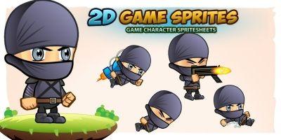 Ninja 2D Game Character Sprites 3