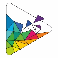 Play Polygon Colorful Logo