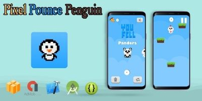 Pixel Pounce Penguin - Buildbox Project
