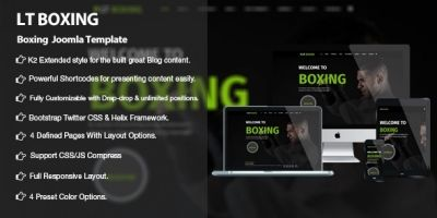 LT Boxing - Premium Joomla Sport Theme