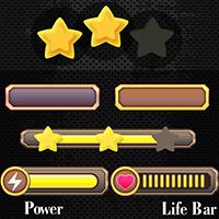 Metallic Game UI