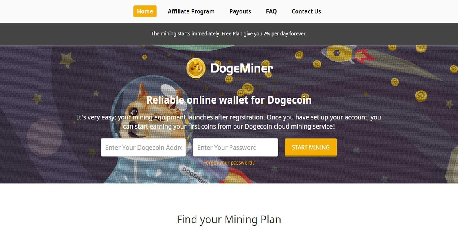 DogeMiner - Cloud Mining Script