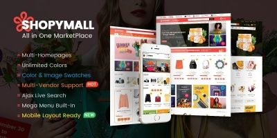 ShopyMall -  MarketPlace WordPress Theme