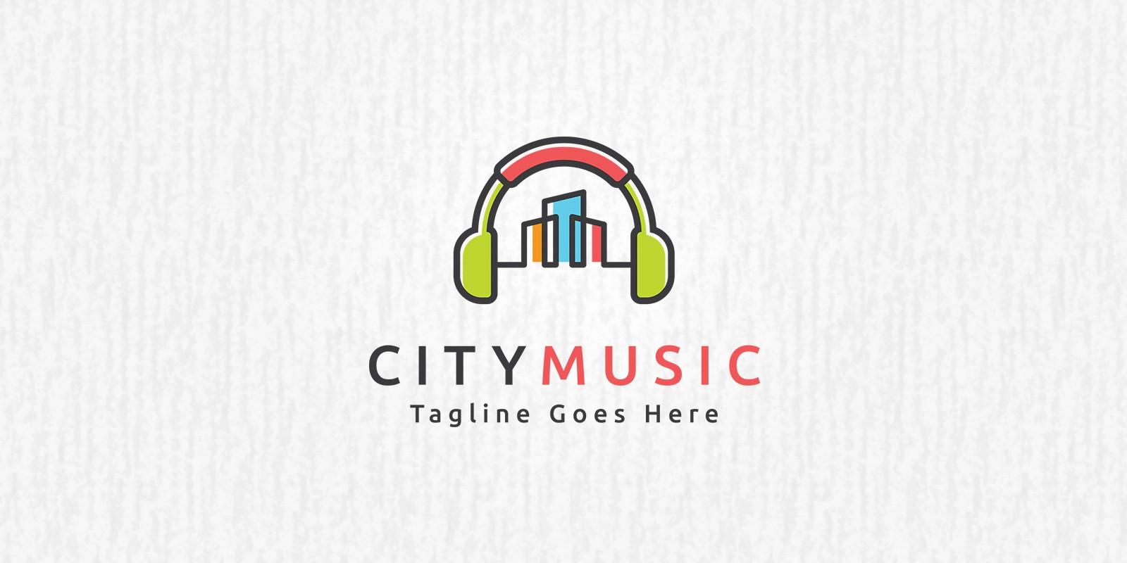 City Music Logo Template