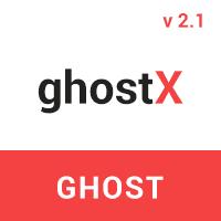 Ghostx - Minimal Responsive Blogging Theme