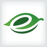Leaf - Letter E Logo
