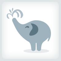 Cute Elephant Logo