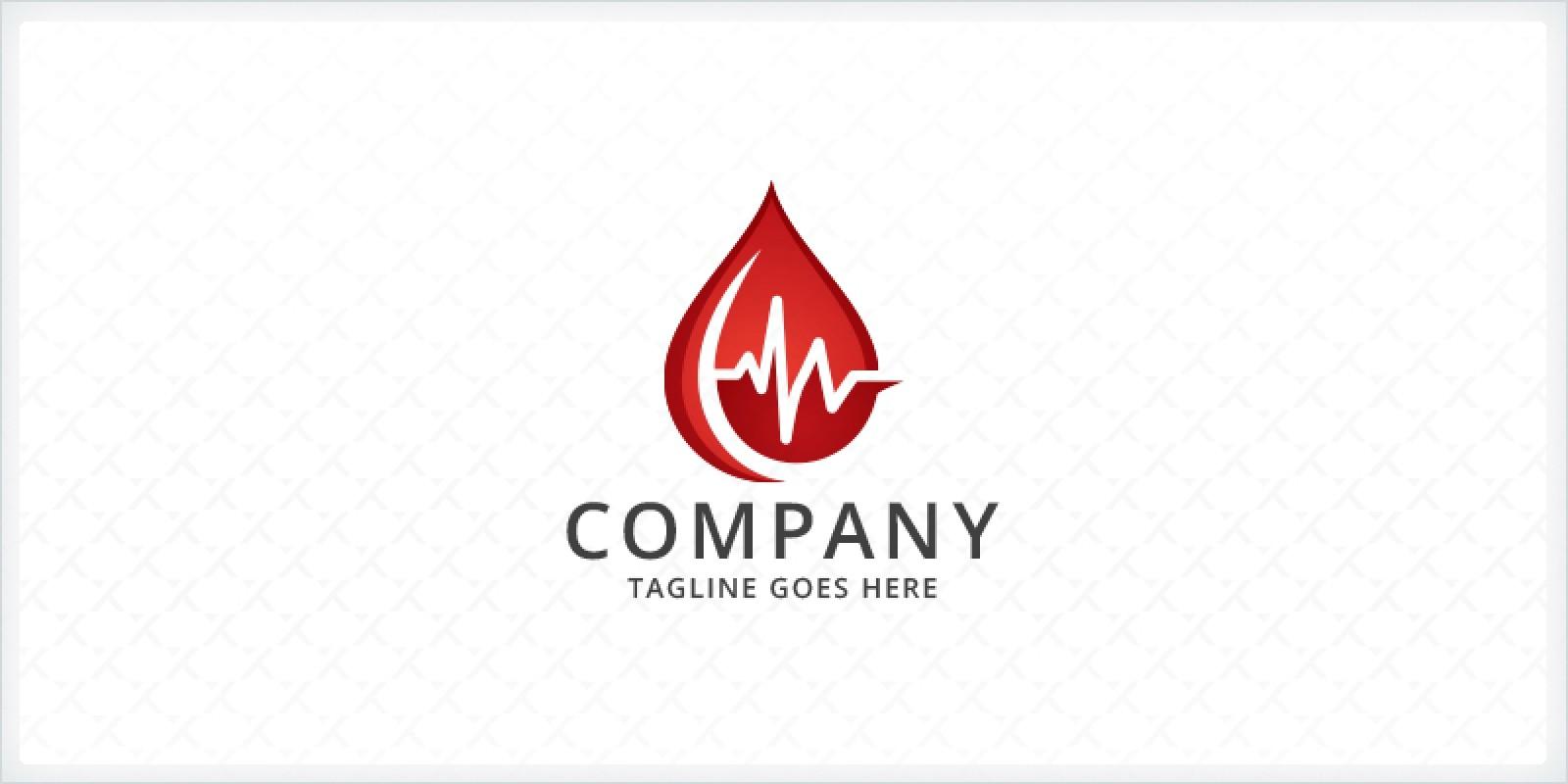 Blood Droplet - Medical Logo