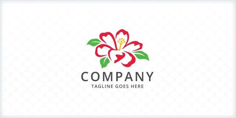 Hibiscus - Flower Logo