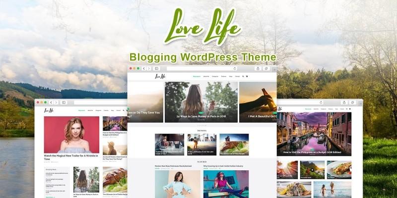 Love Life - Blog WordPress Theme