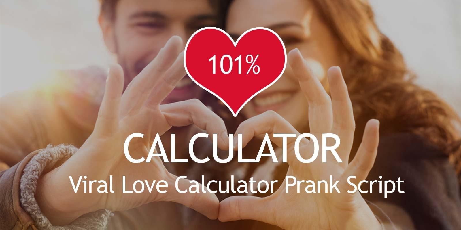 Love Calculator Viral Script