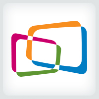 Colorful Overlapping Rectangles Logo