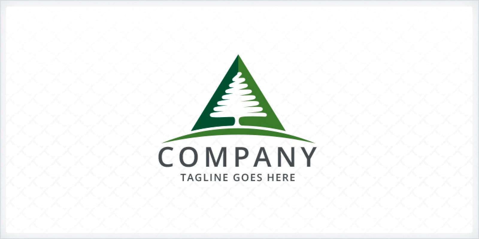 Pine Tree Triangle Logo
