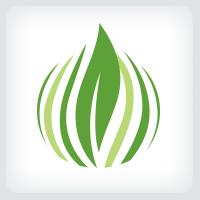 Grass and Leaf Logo