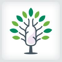 Tree and Bottle Logo