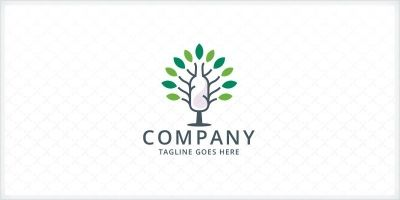 Tree and Bottle Logo