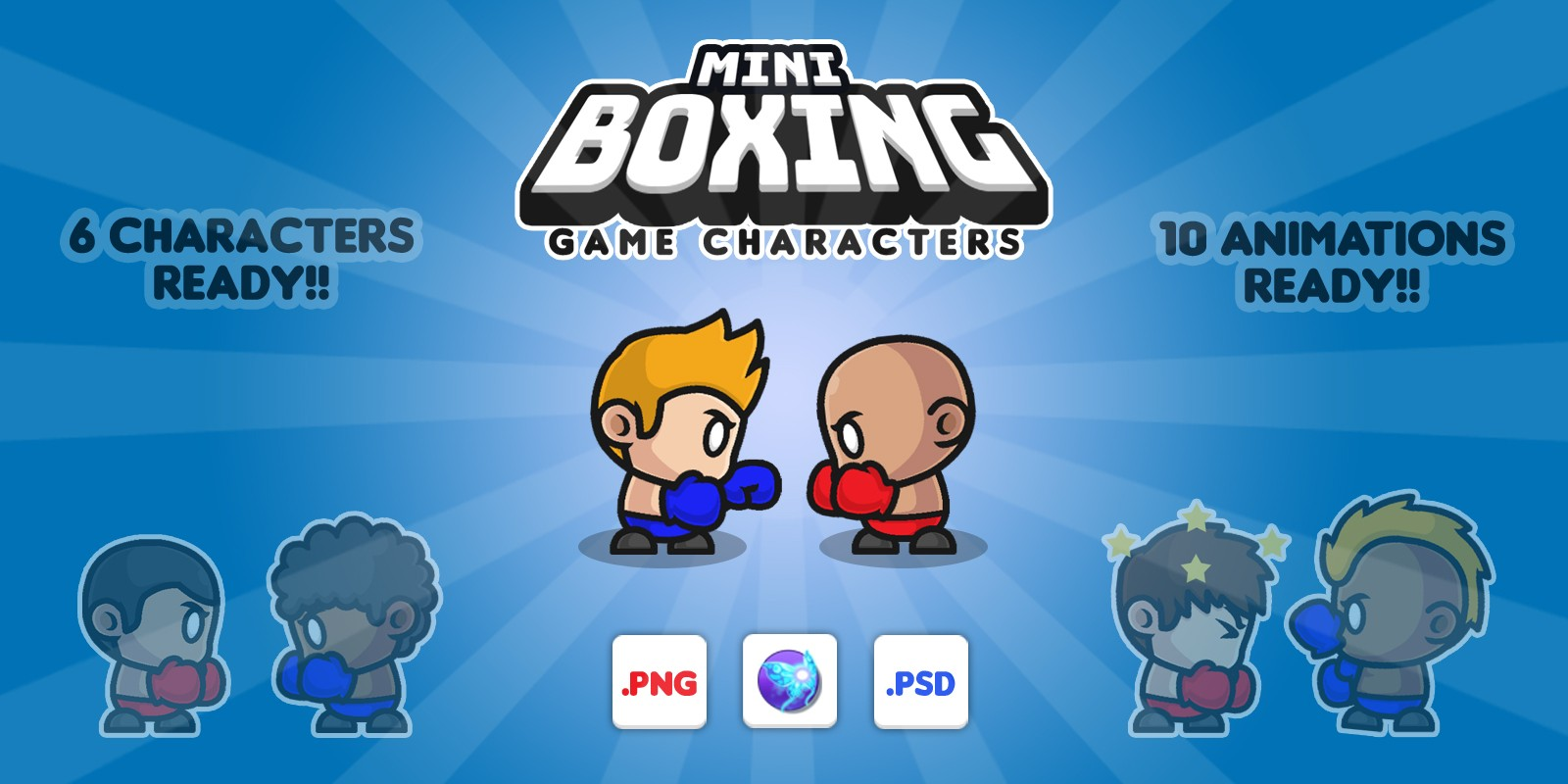 Mini Boxing - Game Characters