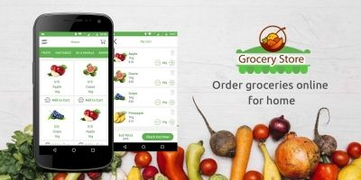 Grocery App UI Template