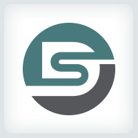 Letters DS or SD Logo