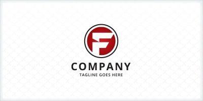 Circle Letter F Logo