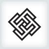 geometric-square-monogram-letter-f-logo