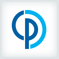 Letters CP Spiral Logo