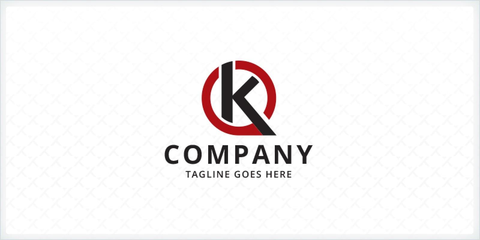 Letter K Speech Bubble Logo