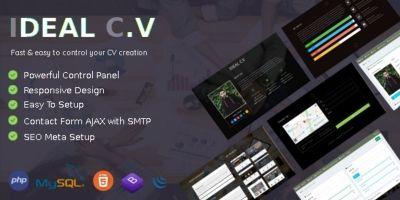 Ideal CV - CMS For Managing CV