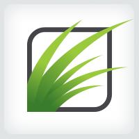 Lawn Care - Grass Logo