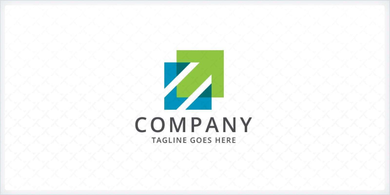 Overlapping Squares - Arrow Logo
