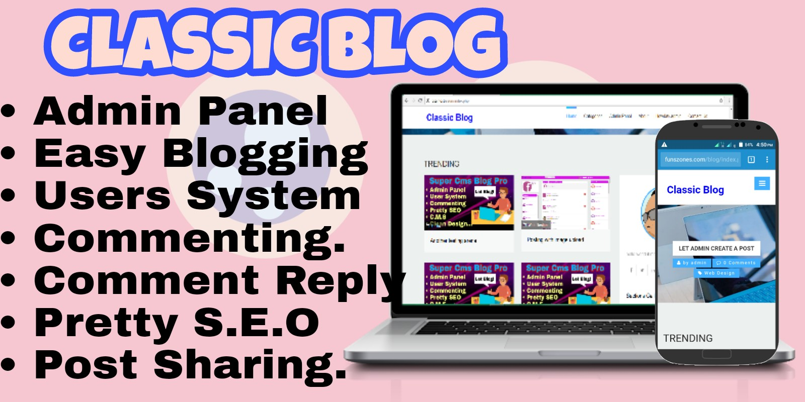 Classic Blog With CMS PHP Script