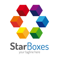 Star Boxes Logo Template