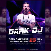 Dark DJ Flyer