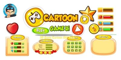 Cartoon Game Ui Set 07