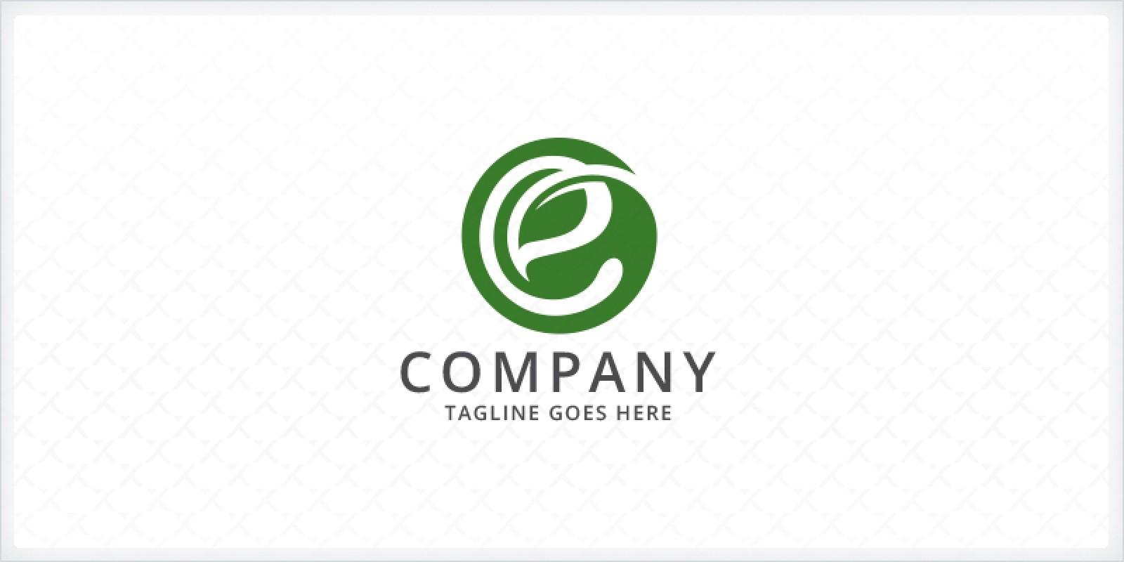 Circle Letter E Leaf Logo