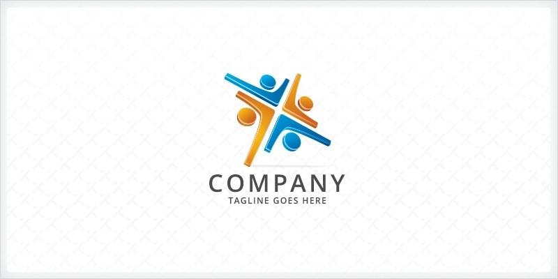 People Collaboration Logo