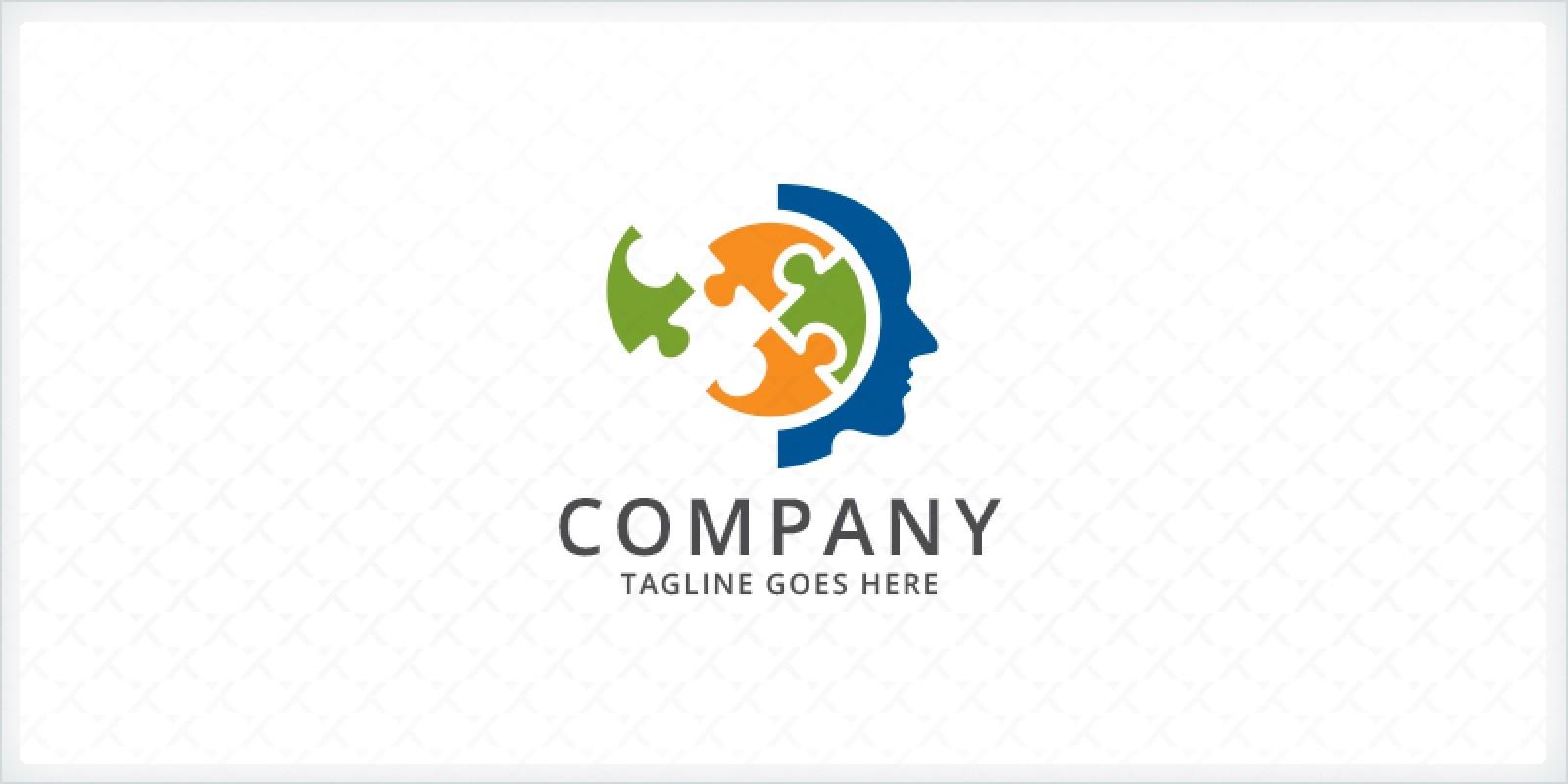 Brain Puzzle - Head Logo