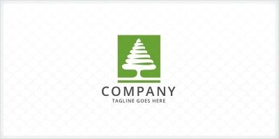 Green Pine Tree Logo